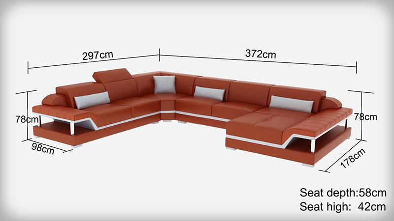 Pernilla design U soffa mått