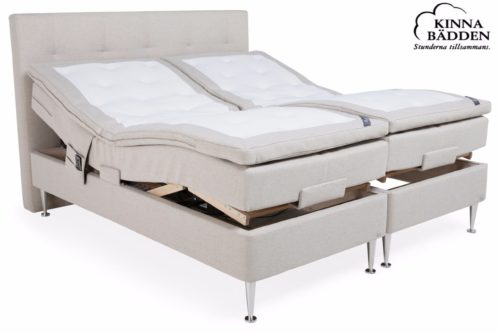 Venus beige ställbar säng Kinnabädden