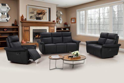 Buffalo _bio_ soffa 3+2+1 svart_ recliner