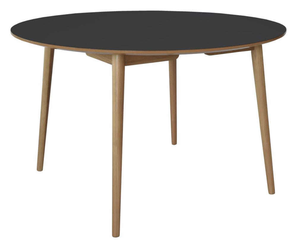 Perstorp matbord svart toppskiva ekben
