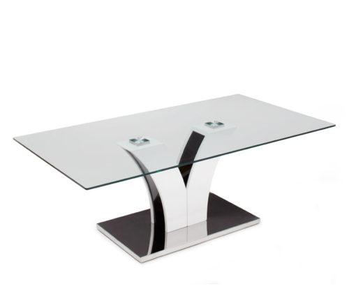 Luzon soffbord 120x65 i glas och krom metall hos Möblera Online