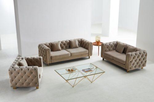 Sandra soffa i sammet